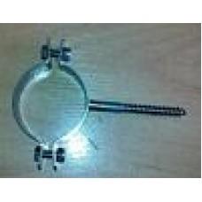Obejma nierdzewna do rury fi 26 - 28 mm z wkrętem do kołka rozporowego fi 8 x 75 mm